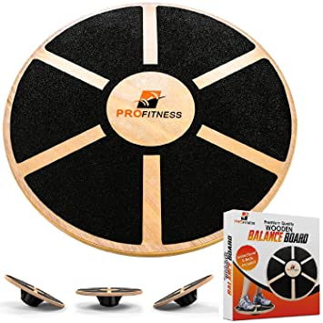 Amazon.com: ProFitness Tabla de equilibrio de madera (15,5 ...