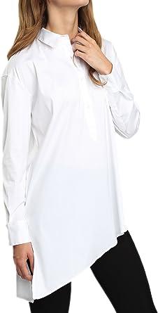 Caramelo, Camisa Asimetrica Con Bolsillo, Mujer · Blanco ...