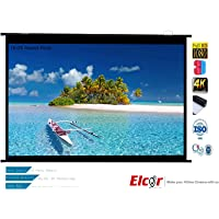 ELCOR Map Type Projector Screen for HD-3D-4K Technology (5x9ff-119-inch Diagonal in 16:09 Aspect Ratio)