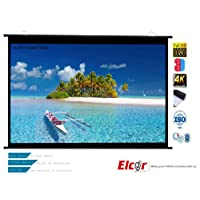ELCOR Map Type Projector Screen 4x7ft, 92-inch Diagonal in 16:09 Aspect Ratio, Supports HD,3D and 4K Technology