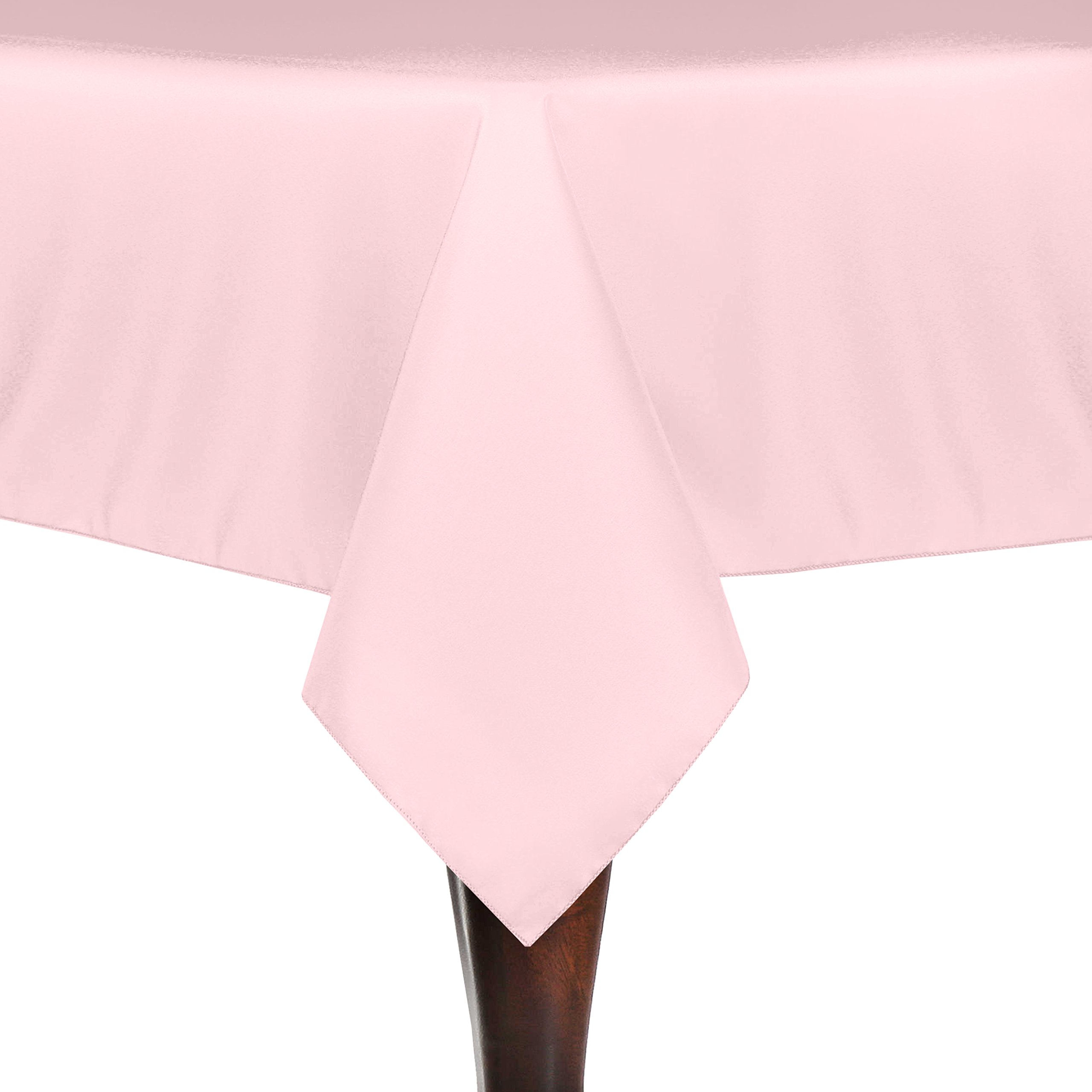 Ultimate Textile (30 Pack) 72 x 120-Inch Rectangular Polyester Linen Tablecloth - for Wedding, Restaurant or Banquet use, Ice Pink