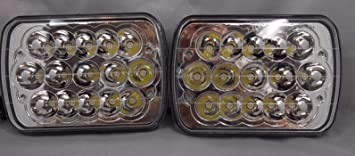 LED Light Bulbs Headlight Crystal Clear Sealed Beam Headlamp Replace HID
