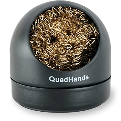 QuadHands Solder Tip Cleaner with Magnetic Base - Securely Attaches to Any QuadHands Helping Hands Station or Any Ferrous Surface: Home Improvement