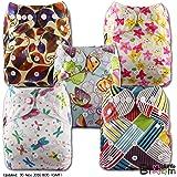 LittleBloom, Reusable Pocket Cloth Nappy, Fastener: Popper, Set of 5