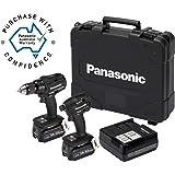 Panasonic EYC217LJ2G57 Hammer Drill Driver & Impact Driver Combo Kit 18V 5.0Ah