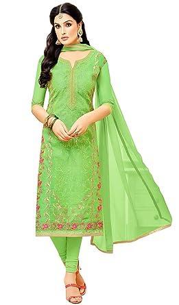 Amazon.com: rajnandini luz verde Heavy Leheriya traje Salwar ...