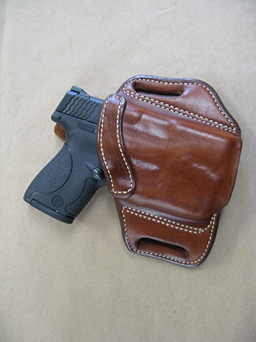 Ruger LC9 LC9s EC9s With LASER 9mm OWB Leather 2 Slot Molded Pancake Belt  Holster BLACK RIGHT HAND