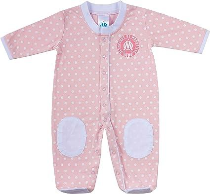 OLYMPIQUE DE MARSEILLE Grenouillère Pyjama bébé Fille Om Collection Officielle