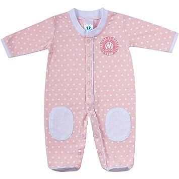 89330a363ff77 OLYMPIQUE DE MARSEILLE Grenouillère pyjama bébé fille OM - Collection  officielle 3 mois