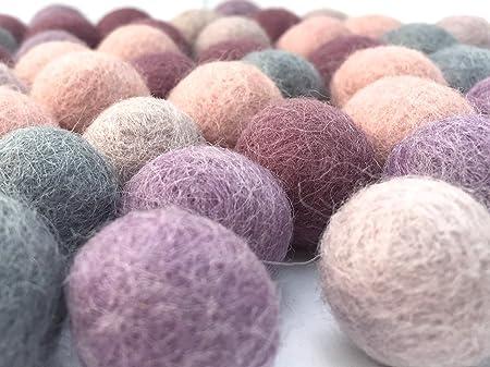 77370f8c81 Colección llena de color de 50 bolas de fieltro