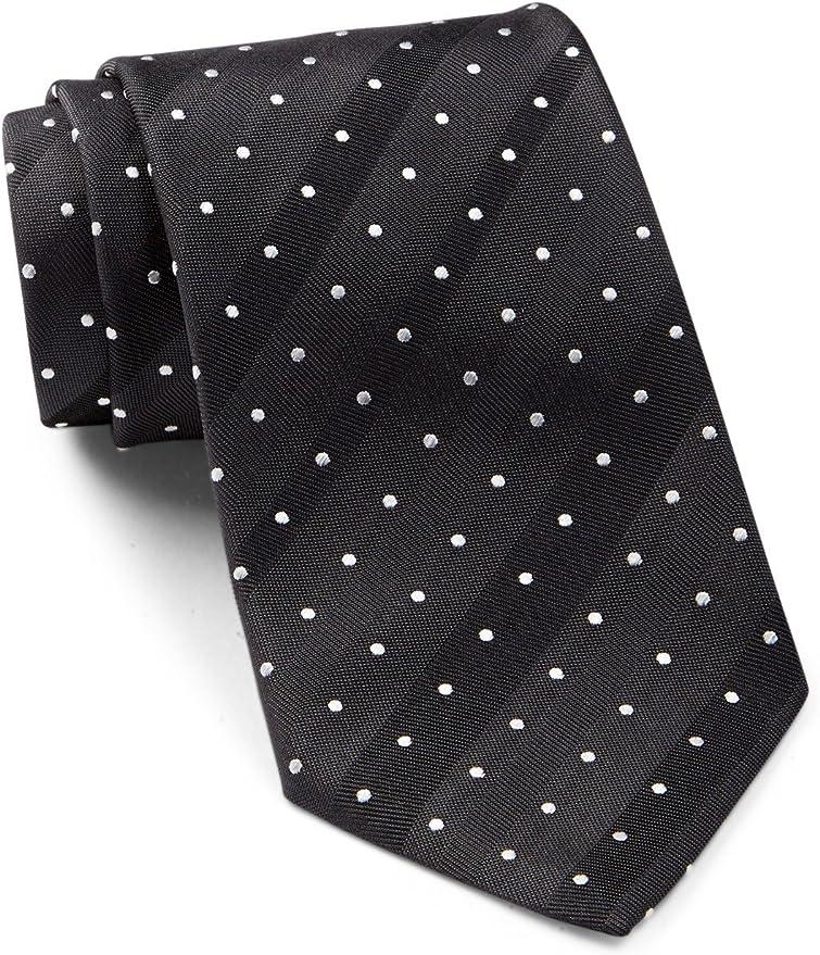 """Hugo Boss Black Label Men/'s Dark Blue Geometric Silk Tie Made in Italy 3/"""""""