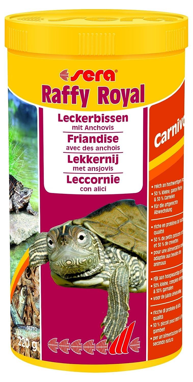 sera 01736 raffy Royal 1000 ml der Leckerbissen aus naturbelassenen, schonend getrockneten Fischen (50 %) und Garnelen (50 %) für Wasserschildkröten 1er Pack (1 x 3.8 l) sera GmbH 32296