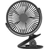 ゴシェール(Gocheer)2019最新式 卓上 Usb 扇風機 静音 ミニ扇風機 360°回転可能 クリップ扇風機 風量3段階 5枚羽根 省エネ 静音 熱中症対策 携帯便利 USB充電式 ファン 日本語取扱説明書付き