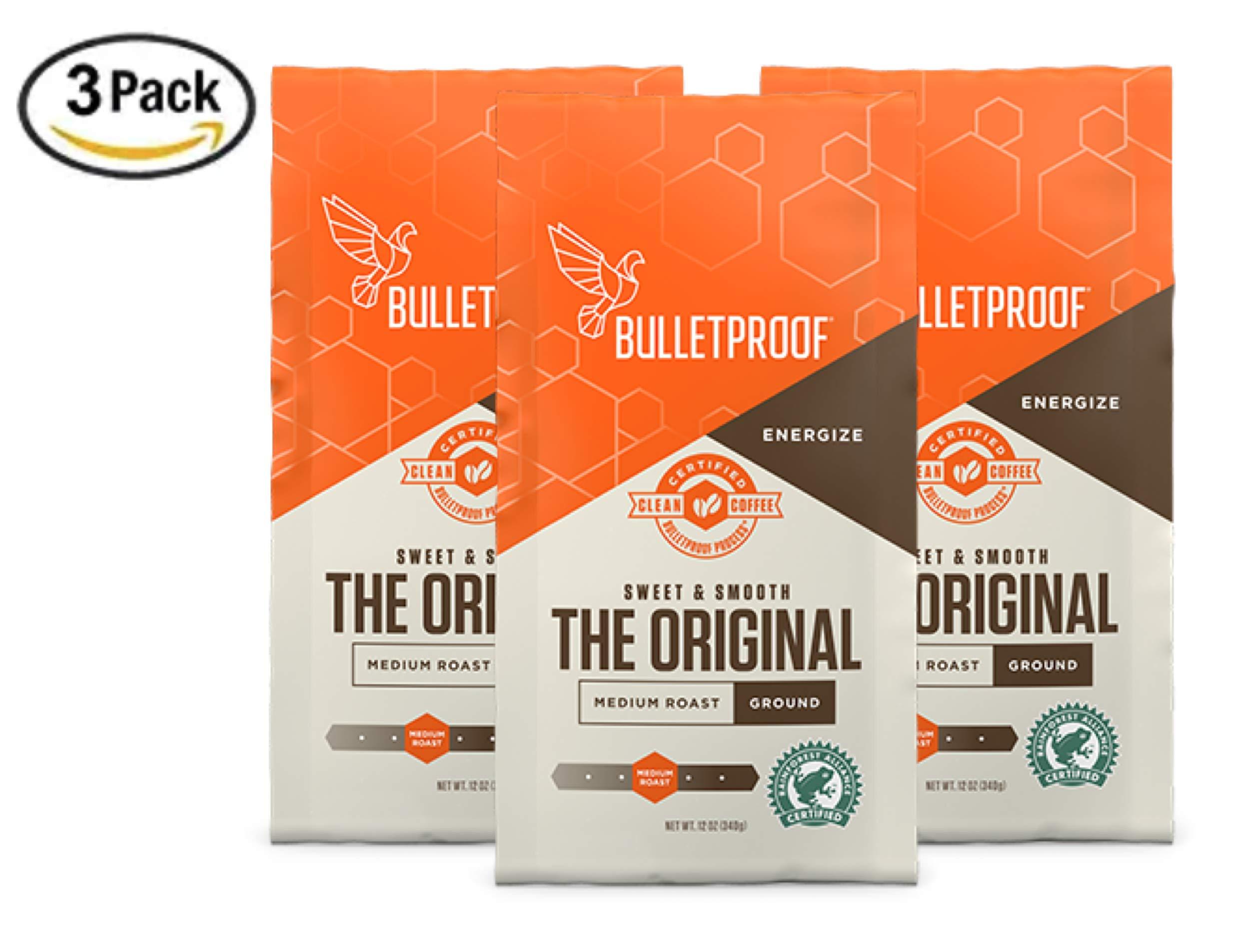 Bulletproof The Original Ground Coffee, Premium Medium Roast Organic Beans, 3-Pack by Bulletproof
