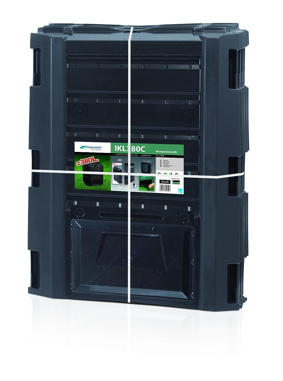 Prosper Plast ikl380 C-s411 71, 9 x 71, 9 x 82, 6 cm Compogreen Komposter –  Schwarz (6-teilig) IKL380C-S411