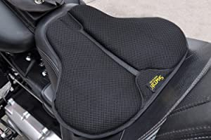 4. SKWOOSH Classic Saddle Motorcycle Gel Seat Cushion Cooling Mesh Breathable Fabric