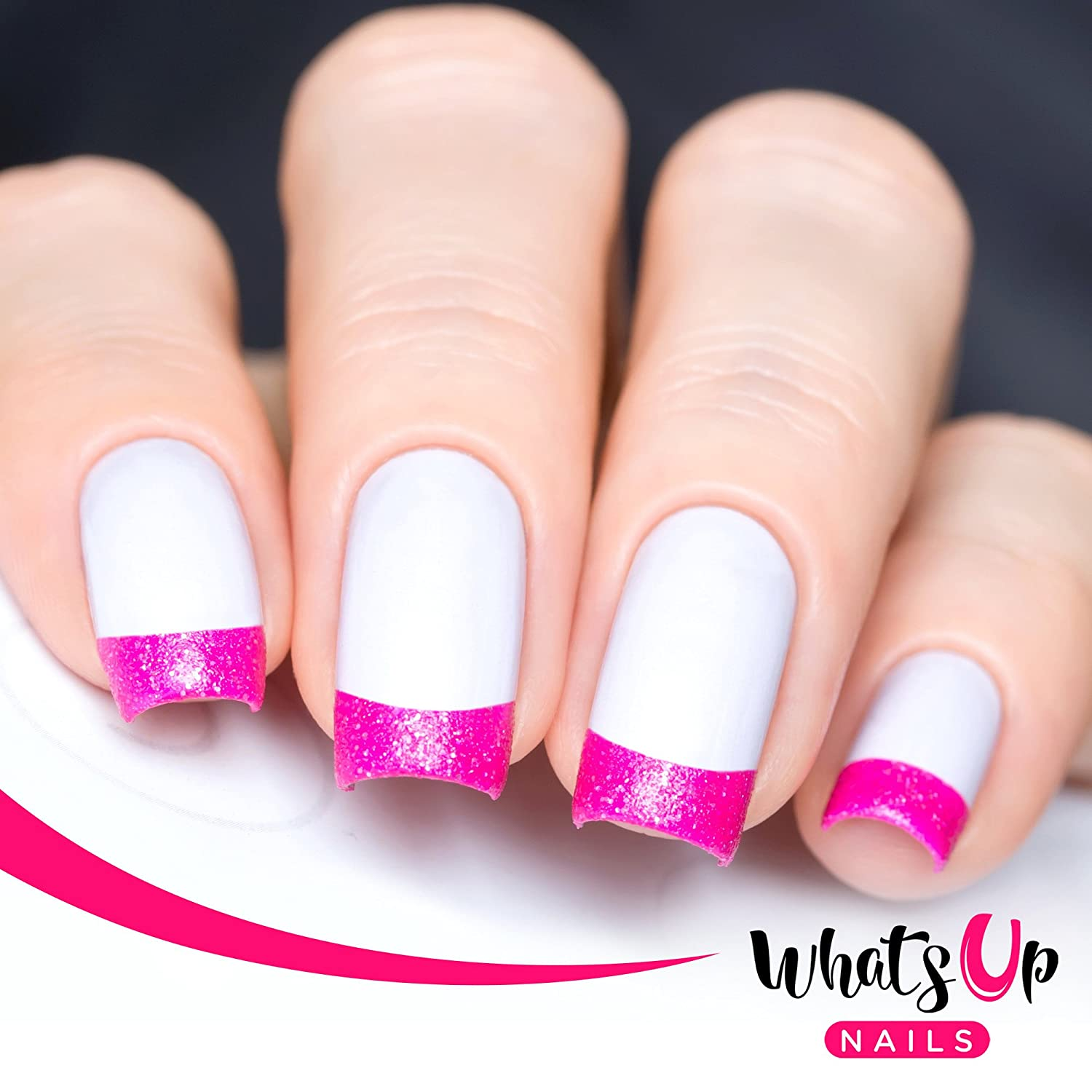 Amazon.com : Whats Up Nails - French Tip Tape Nail Stencils Stickers ...
