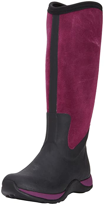 592080e24 MuckBoots Women's Artic Adventure Suede Zip Snow Boot,Black/Purple,5 ...