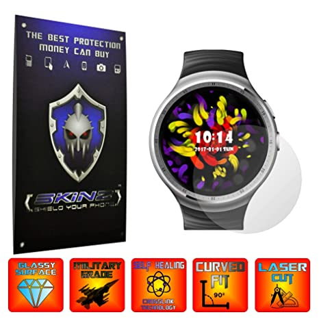 X-Skinz Zeblaze Thor - Juego de 4 Protectores de Pantalla para Reloj Inteligente (
