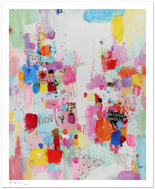 Reproducción de arte - Add a little confetti to each day II ...