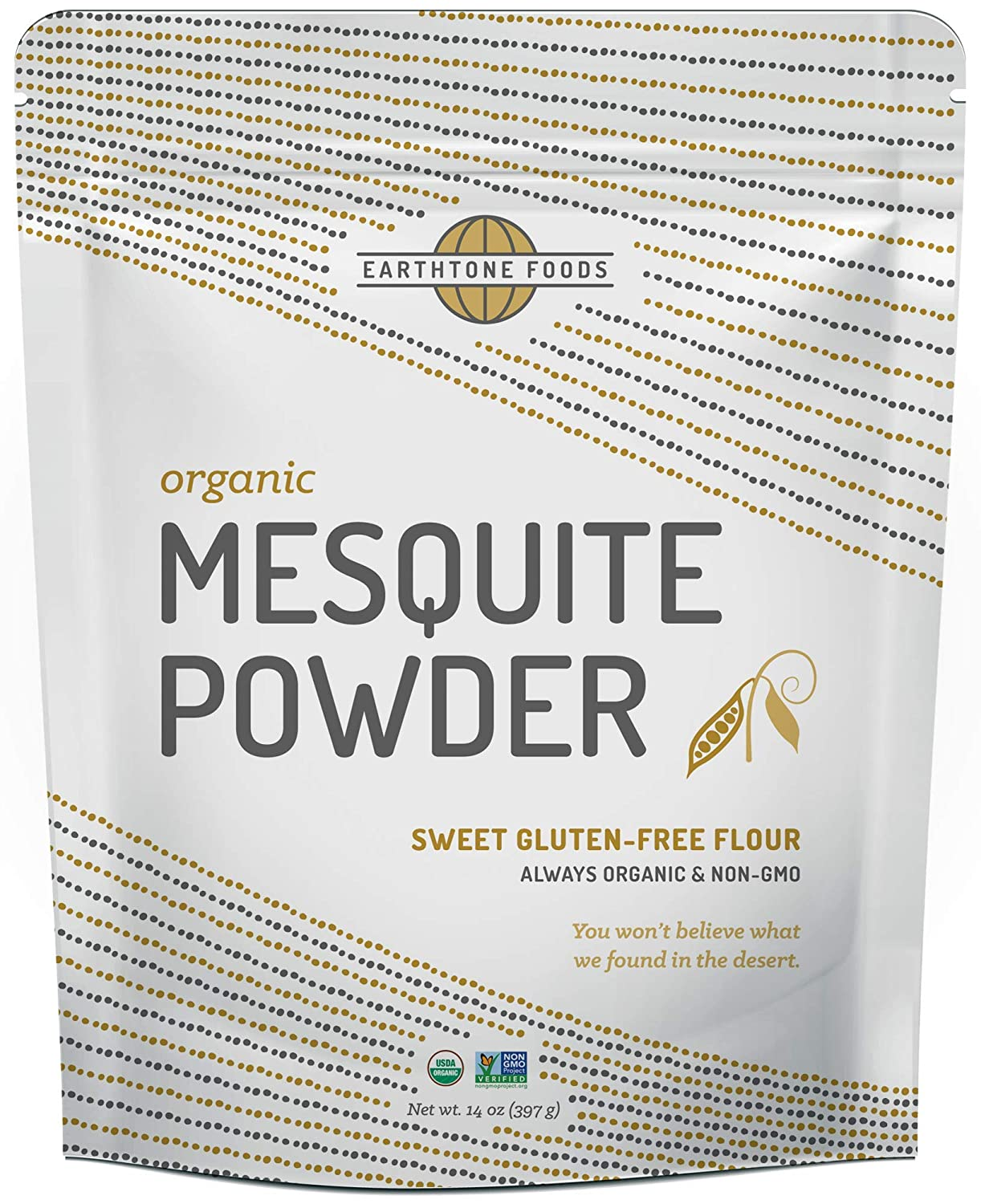 Mesquite Powder Organic | Premium Peruvian Raw USDA & Paleo Certified Vegan Flour - Natural Fiber - Perfect for Smoothies and Baking, 14 Ounces
