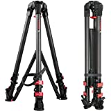 """IFOOTAGE Video Camera Tripod Professional Carbon Fiber Tripod for DSLR Camcorder Video Photography, 88lbs Capacity, 59"""" Max Height"""