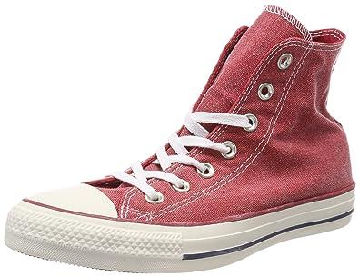 Converse Chuck Taylor CTAS Hi Cotton, Chaussures de Fitness Mixte Adulte, Rouge (Enamel Red/Enamel Red/White 603), 42.5 EU
