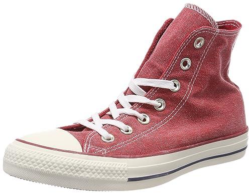 Converse Unisex Kids' Chuck Taylor CTAS Hi Cotton Fitness Shoes, Red  (Enamel Red