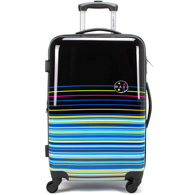2a0ba3e196c2 Maui and Sons Stripes Expandable Hardside Spinner Luggage with TSA Lock  (24
