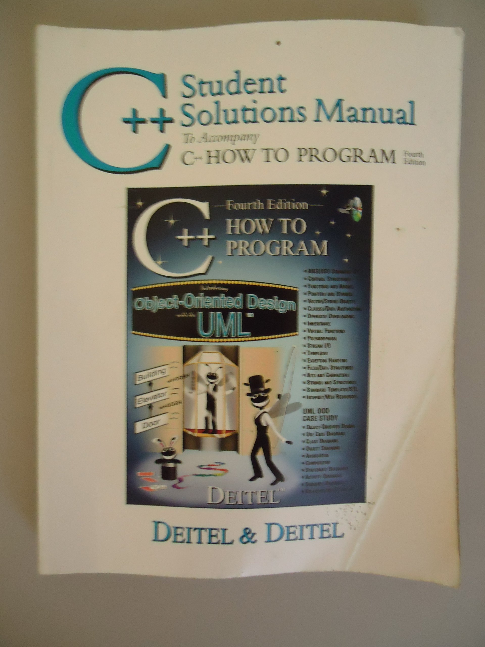 C++ Student Solutions Manual: Paul J. Deitel: 9780131425781: Books -  Amazon.ca