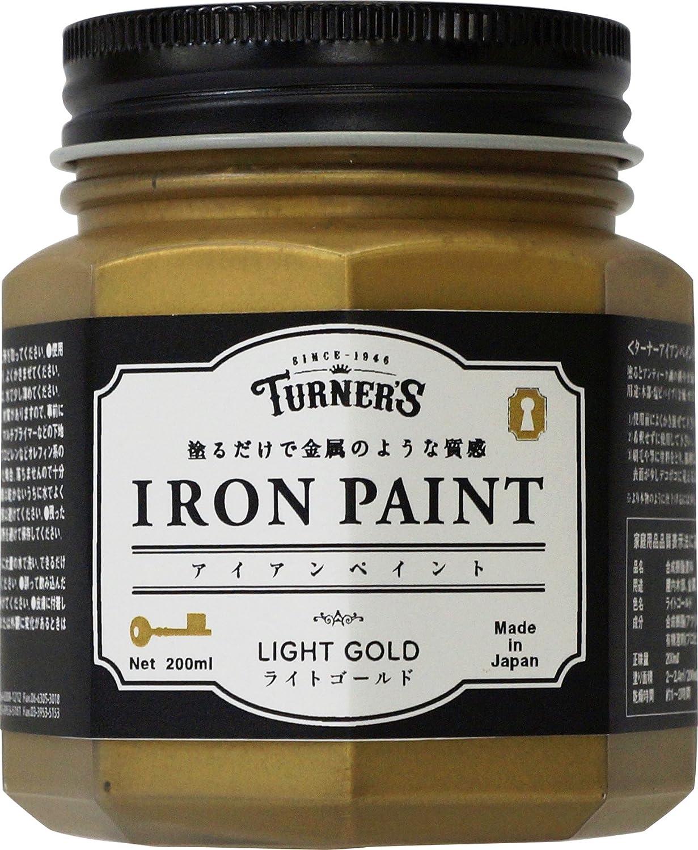 ターナー色彩 アイアンペイント ライトゴールド