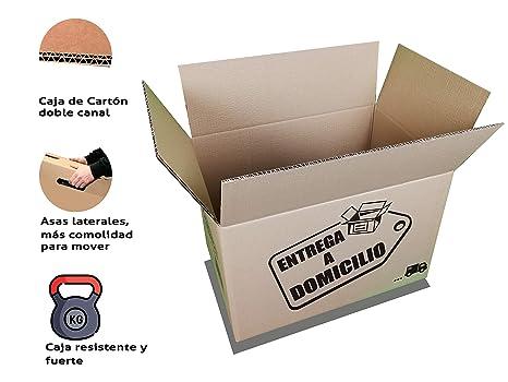 Chely Siglo Cajas mudanza grandes 60x40x40 cm(Pack de 10 unidades) Canal Doble MAS RÍGIDO, PRACTICO en MUDANZA y CONSISTENTE|Disponible en varios ...