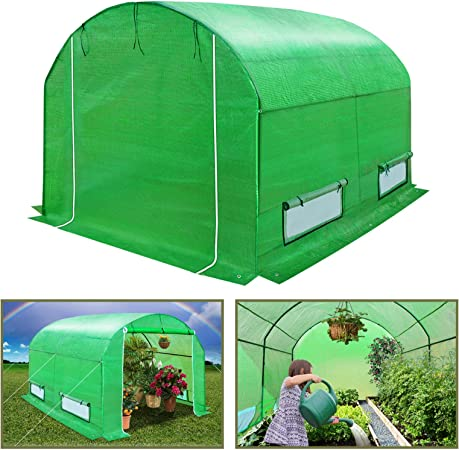 10x7x6 BenefitUSA Multiple Size Large Greenhouse Walk in Outdoor Plant Gardening Hot Greenhouse