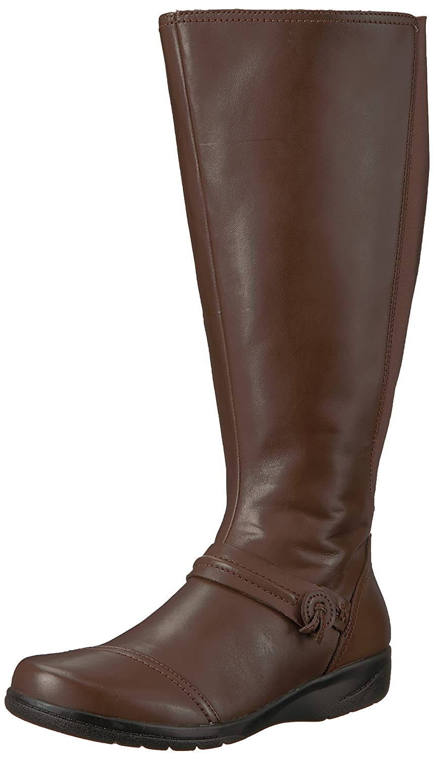 CLARKS Women's Cheyn Whisk Wide Calf Knee High Boot B072M6LBK7 8.5 W US|Dark Brown Leather