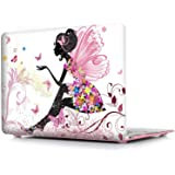 MOCA Matte Hard Shell Skin Front Back Case cover for MacBook Pro with Retina Display Logo-Cut (Butterfly Girl,Moca47211)