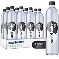 smartwater Alkaline 9+ph, 33.8 Fl Oz Bottles, Pack of 12