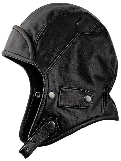 e0a722768 Sterkowski Genuine Leather Trapper Aviator Hat