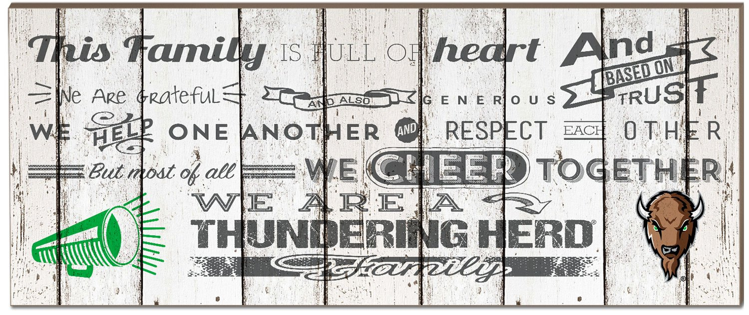 KH Sports Fan 18x7 Montana Grizzlies Family Cheer Small Weathered Collage Plaque