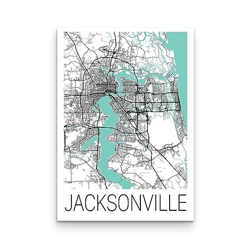 Amazon.com: Jacksonville Map Poster, Jacksonville Map, Jacksonville ...