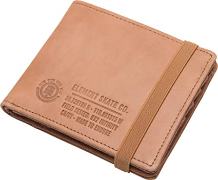 Element - Cartera para Hombre Beige Natural Dimensions=11.5 x 9 cm