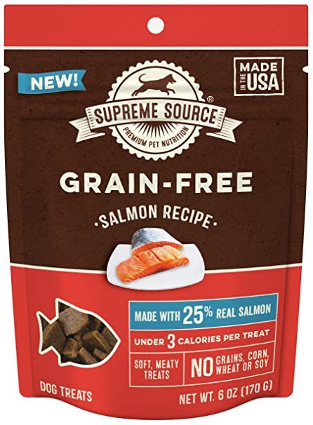 Supreme Source Premium Soft Dog Treats Grain Free Protein Low Calorie Salmon Recipe