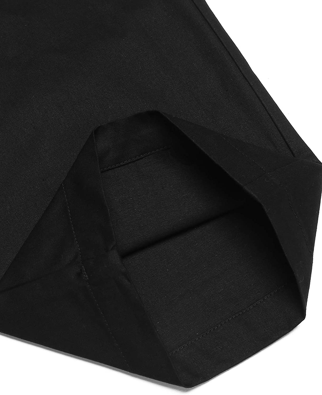 Pantalones Largos de Lino para Hombre Ajuste Normal para Hombres de Mezcla de algod/ón con cord/ón Coofandy Color Blanco el/ásticos