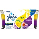 Glade 2in1 Jar Candle Air Freshener, Jubilant Rose and Lavender and Peach Blossom, 2 count, 6.8 Ounce