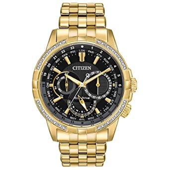 Amazon.com  Citizen Watches Men s BU2082-56E Eco-Drive Gold-Tone One ... 2edae125979c