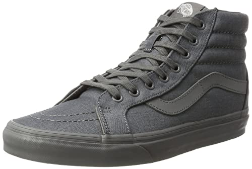 08c4d62daf2deb Vans Unisex Sk8-Hi Reissue (Mono Chambray) Gray Gray Skate Shoe 7 Men US   8.5  Women US  Amazon.ca  Shoes   Handbags