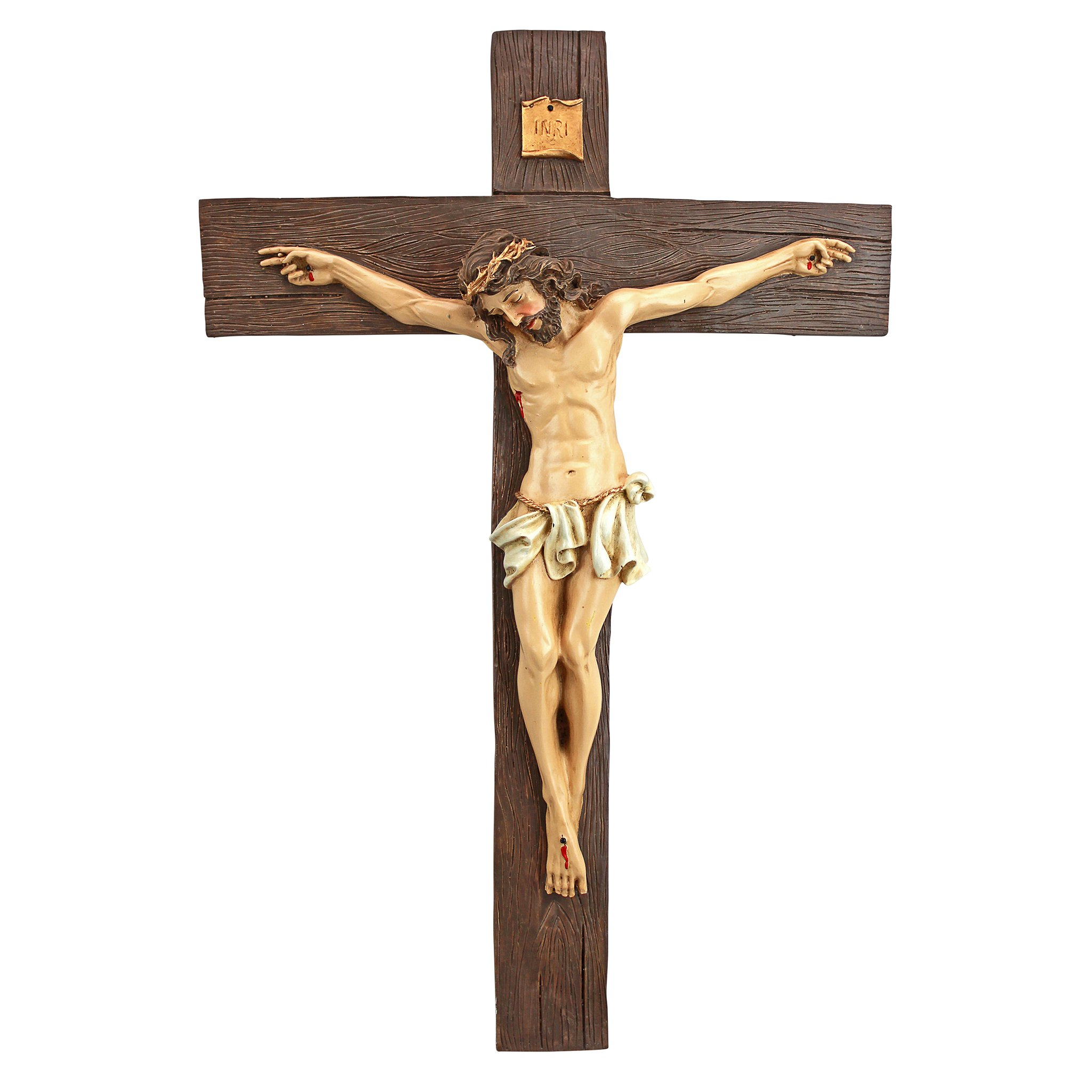 Design Toscano Crucifixion of Christ Cross Wall Sculpture: Large
