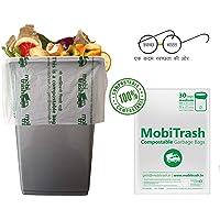 MobiTrash Biodegradable Garbage Bags, 100% Compostable