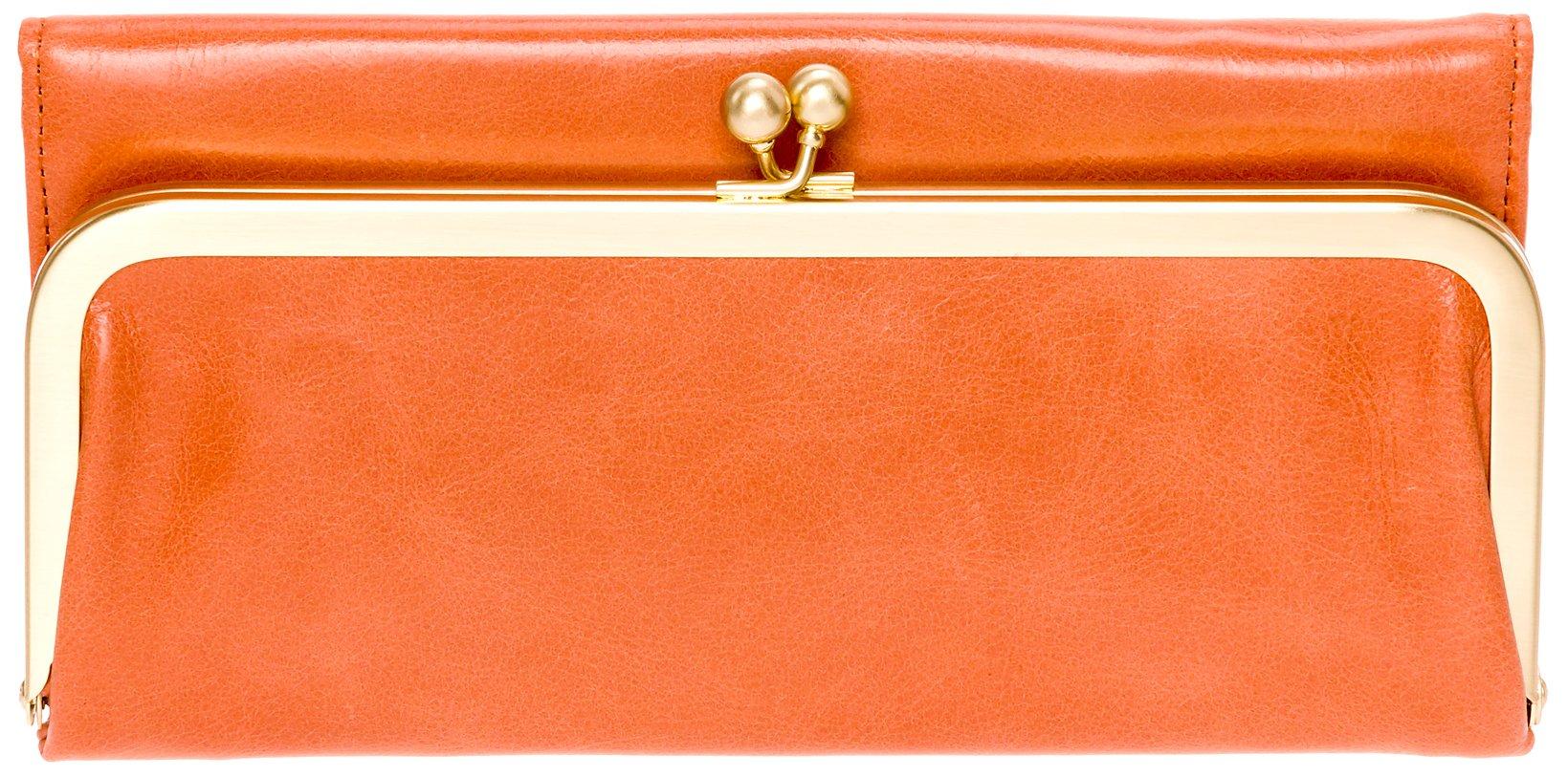 Hobo Womens Rachel Vintage Wallet Leather Clutch Purse (Persimmon)