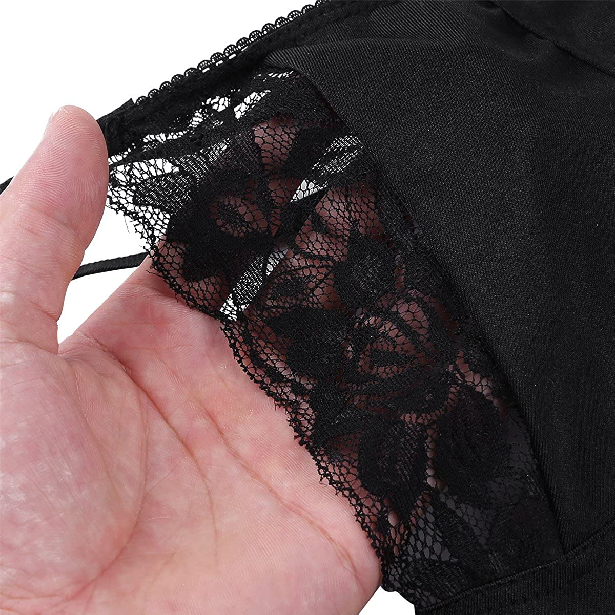Hularka Mens Sissy Floral Lace Sheer Wireless No Padded Bra Top Bralette Underwear Lingerie