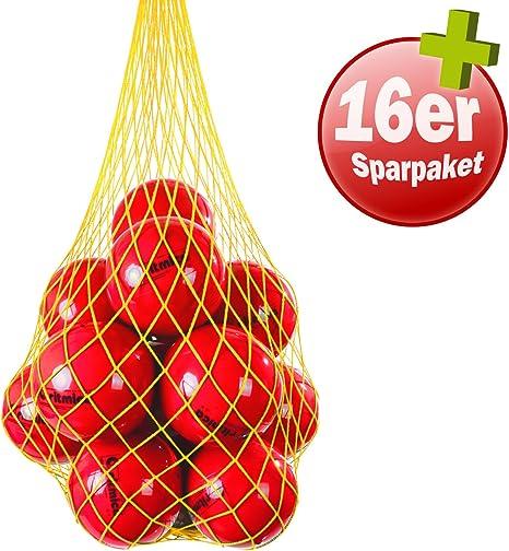Pezzi® ritmica 280 g Rojo Azul Bundle 16 con pelota pelotas de red ...